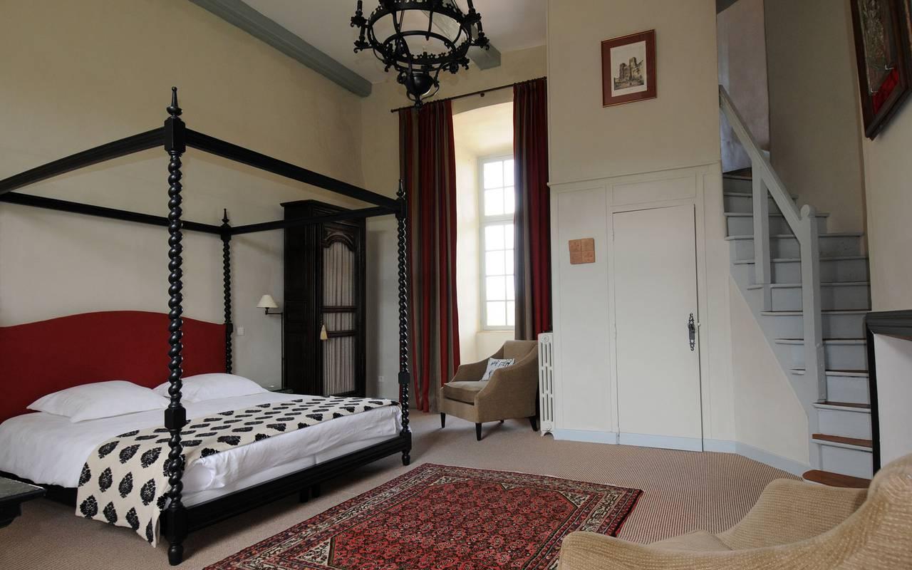 exemple de chambre d'hôtes au chateau de saint saturnin