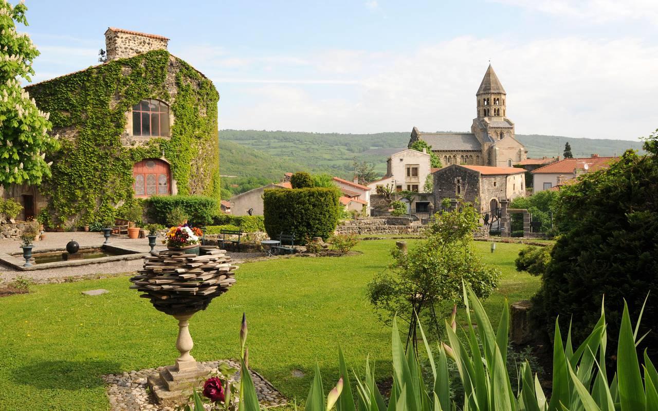 General view of saint saturnin village in auvergne france