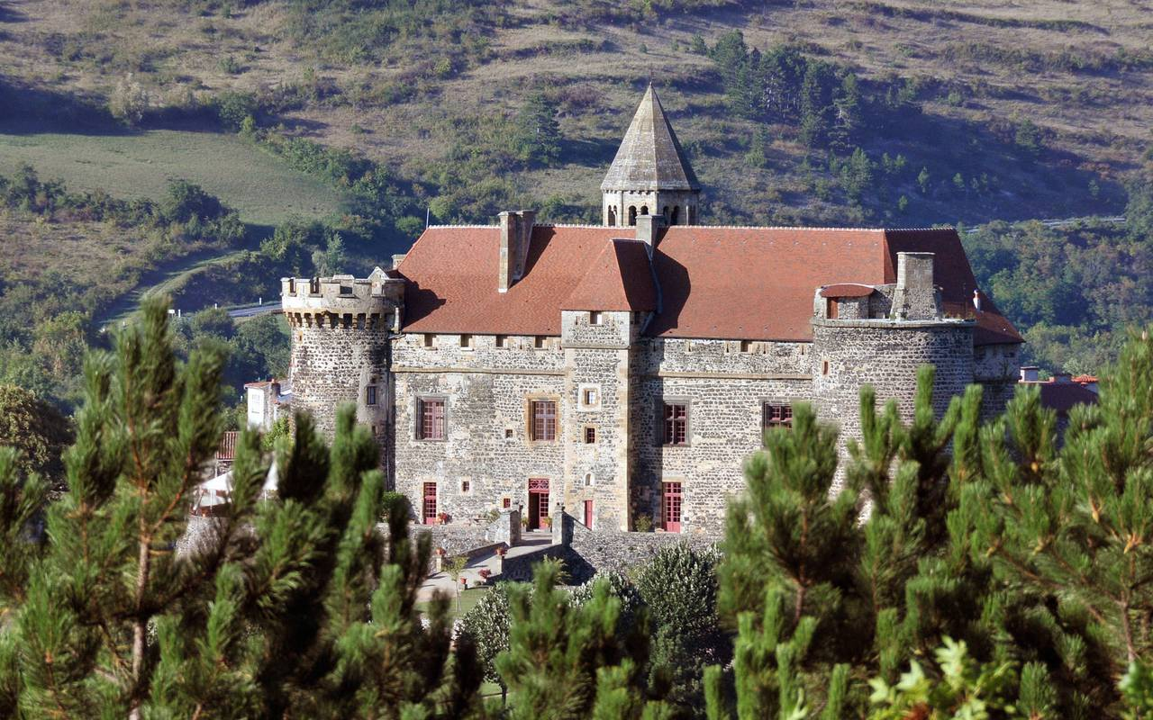 castle saint saturnin guest house in Auvergne general view